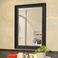 厂家批发定制欧式玻璃镜框 黑色 复古浴室镜 酒店洗手间卫浴挂镜 镜子