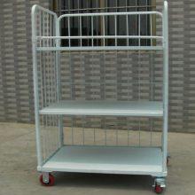 可配合卸货平台使用,方便货物装卸,空载时可折叠不占空间的L型物流周转车
