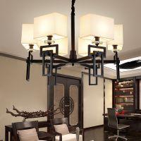厂家直销一件代发新中式布艺吊灯 卧室客厅餐厅茶楼灯具