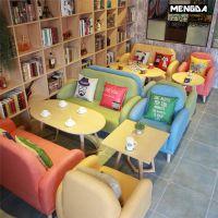 咖啡厅沙发 奶茶店冷饮咖啡店沙发 西餐厅主题餐厅餐桌椅组合