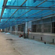 马安阳光板停车棚 工厂学校自行车雨棚 电动车车棚定制厂家