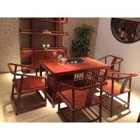 花梨木功夫茶桌新中式茶桌椅组合茶台红木家具