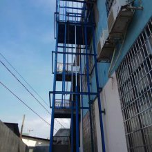 鑫力固定液压升降台厂家专业定做 导轨式升降机 固定链条式吊笼 货物货梯