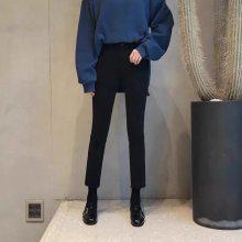 厂家批发春秋潮流女装修身牛仔裤长裤新款弹力流苏破洞女式牛仔裤