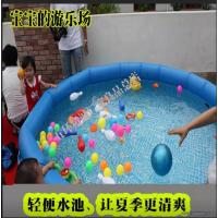 WHJC五环精诚供应大型家庭豪华PVC充气游泳池 亲子海洋球戏水池