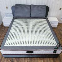 智能温控加热双人玉石床垫天然乳胶棉弹簧床垫