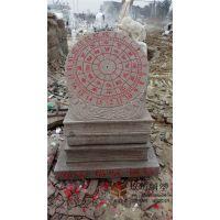 石雕日晷汉白玉大理石圭表古代计时太阳表校园文化雕塑石头指南针 玖坊雕塑