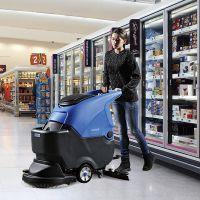 无锡地胶地面专用洗地机 容恩R50B手推电动工业用洗地擦地磨地机