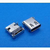 usb 3.1 type-c夹板母座 14p板上SMT+DIP四脚插板 0.8L=9.3MM