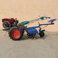 柴油微耕机 多功能小型松土起垄机 12马力旋耕机带后座 防滑轮