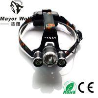 厂家批发 30w强光充电头灯 户外探明狩猎打猎灯钓鱼灯