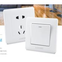 高档工程款墙壁开关|能检测的工程开关插座|质量好 价格低的工程开关插座