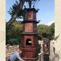 禅相法器销售塔型化经炉烧纸炉 三层元宝炉 寺院香炉铁铸大型香炉