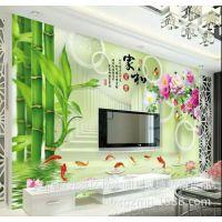竹木阁新款竹木纤维集成墙板3D5D背景墙 新型环保订制快装厂家直销