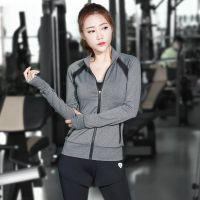 新款瑜伽服三件套女修身透气女士外套长裤运动跑步健身服套装