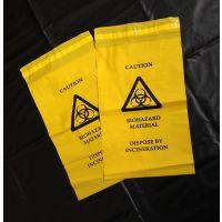 定制PE医用自粘袋带背胶医疗废物收集袋黄色医疗密封胶袋OPP袋
