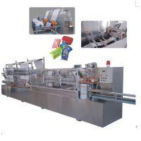 杭州锦昇JS-Z80高配置全自动湿巾折叠堆垛机(5道机)全自动80片湿巾设备