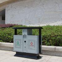 户外镀锌板垃圾桶冲 孔分类小区果壳箱 公园垃圾箱垃圾批发特价