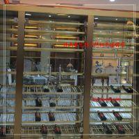 厂家定制 不锈钢储物酒柜 豪华西餐厅红酒展示柜 酒店红酒储物柜