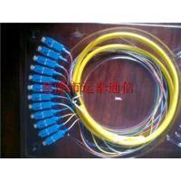 SC彩纤电信级12芯束状尾纤使用原理