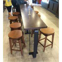 麦德嘉MF-BTZ星巴克吧台美式乡村铁艺矮吧台 咖啡厅桌椅生产厂家