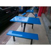 百色凌云学生食堂餐桌椅 向上提供四人位快餐餐桌椅