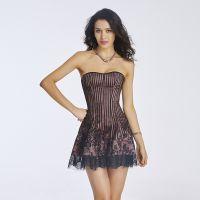 欧美宫廷长款束身衣 性感塑身礼服连衣裙 舞会紧身裙 侧拉链系带