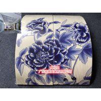 北京紫澜门铝方通_青花瓷3D彩印铝单板_圆弧柱青花瓷铝板(潮流产品)