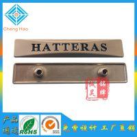 广州厂供应 高档行理箱商标牌定做锌合金标牌加工电镀金属铭牌