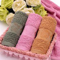 高阳毛巾厂家直销 32股纯棉提花玫瑰情侣毛巾 春季新品上市