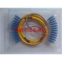 产品束状12芯SC接口大方头尾纤可用于室内外网络连接