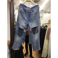 6元尾货牛仔裤在哪里有牛仔裤市场有工厂有便宜牛仔裤批发摆摊