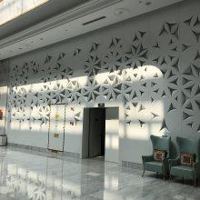 外墙拼装铝单板 立体雕花铝板效果图(欧百得)木纹铝板拼装设计厂家
