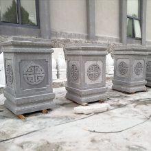石雕柱子墩方形石墩青石古建筑柱墩底座大门装饰雕刻摆件曲阳万洋雕刻厂家定做