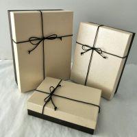 爱赏宝 厂家直销简约蝴蝶结长方形礼品盒个性精美礼物盒高档商务盒