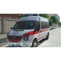 江铃新世代短轴医疗救护车改装厂家