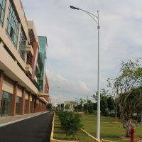 深圳市政公路led投光灯灯杆 报价6米led路灯杆单臂 批发路灯杆