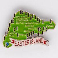 义乌厂家供应Easter Island 复活岛画油地图冰箱贴定制