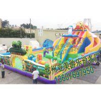 变色龙螺旋滑道充气大滑梯厂家直销充气城堡儿童乐园室内外游乐设备游乐场