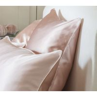 22MM素色素绉缎真丝枕套 100%桑蚕丝枕巾枕头套批发