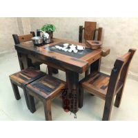 特价老船木茶几客厅茶桌椅组合中式古典茶台功夫泡茶桌