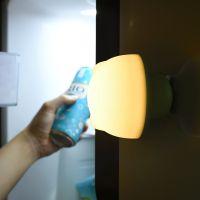 大头仔硅胶吸盘小夜灯可爱创意拍拍充电变色动物喂奶led床头台灯