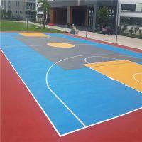 广州广场羽毛球场地面施工 1.5厚彩色丙烯酸地面 柏克体育