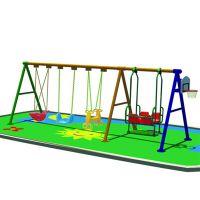 广东厂家儿童秋千 木质组合秋千 可定做不同款式、工程塑料滑梯组合、场地游艺设备