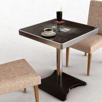 重庆智能餐桌招商了智能餐桌运用了触控技术多人触摸无影响娱乐点餐收银一体桌