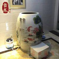 活瓷能量蒸缸和传统汗蒸房的区别 的养生缸 养生缸生产厂家