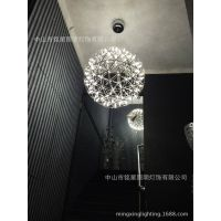西班牙装饰LED球吊灯Moooi火花吊灯电影院特色不锈钢Led星球灯具