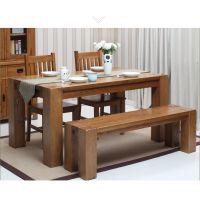 美式餐桌乡村田园风格实木桌餐厅桌