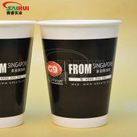 12盎司双淋膜纸杯性价比高,香飘飘纸杯供应商,北京纸杯