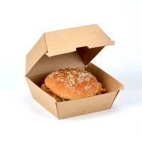 喇叭花牛皮纸汉堡盒纸盒汉堡包食品包装盒外卖打包盒面包盒子批发